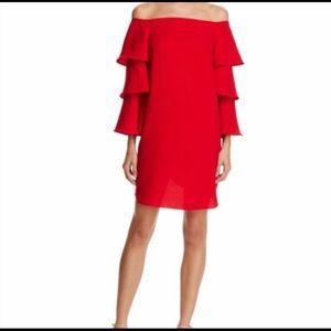 Nanette Lepore off the shoulder dress
